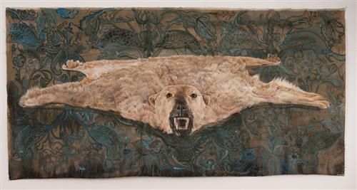 5. Flying Bear 2.jpg - Flying Bear oil on linen 9.5' x 4.5'   Photo credit: Arturo Herrara